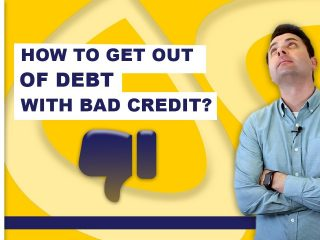 How To Get Out Of Debt With Bad Credit?